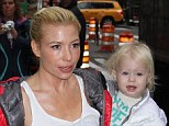 Health advice: Tracy Anderson, pictured with her daughter Penelope ahead of a GMA appearance, says juice cleanses are no better for the body than a Twinkie