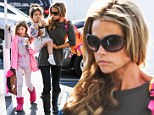 A devoted mother! Denise Richards treats daughters to a sunny day out days after it's revealed that troubled Brooke Mueller has accused her of child abuse