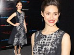 Emmy Rossum stuns in black and white print dress and ruby red lips at benefit screening for August: Osage County