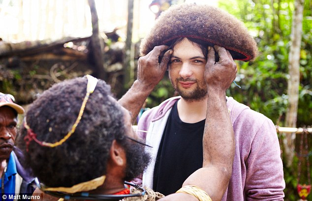 Oliver Smith trying out the Wigs