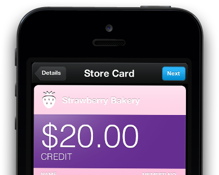 iOS Passbook Store Card