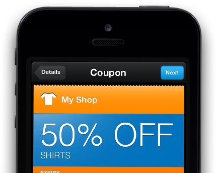 iOS Passbook Coupon