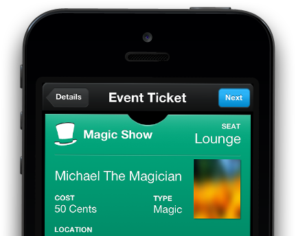 iOS Passbook Event Ticket