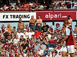 Worry: West Ham fans are worried a huge gap between the upper and lower tiers of the re-designed Olympic Stadium will ruin the atmosphere