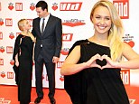 Opposites do attract! Petite Hayden Panettiere attends German gala with towering husband-to-be Wladimir Klitschko