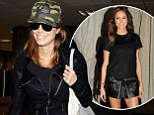 Stacy Keibler steps out in casual camouflage hat and jacket... days after glamming it up in mini skirt for Miami night out
