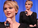 Jennifer Lawrence keeps things simple but stunning in elegant black knitted dress as she promotes American Hustle