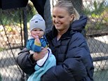 Malin Akerman shows off baby Sebastian