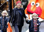 Cool bag, Mom! Naomi Watts' Muppet bag is the envy of the playground in New York