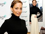 Stick thin Nicole Richie accentuates her tiny frame in high-waisted skirt at Henri Bendel fashion bash