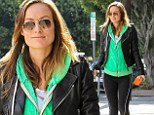 Pregnant Olivia Wilde is one lean, green, Pilates machine in West Hollywood