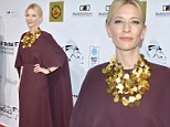 Cate Blanchett respectfully covers up in elegant plum-coloured gown at Dubai film festival
