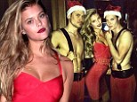 Let's hope Max isn't the jealous sort! Nina Agdal slips into a tight minidress then uploads pic of her posing with sexy shirtless men on night out