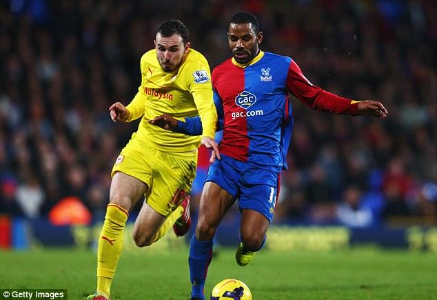 Mutch ado about nothing! Jordon Mutch (left) and Jason Puncheon challenge for the ball