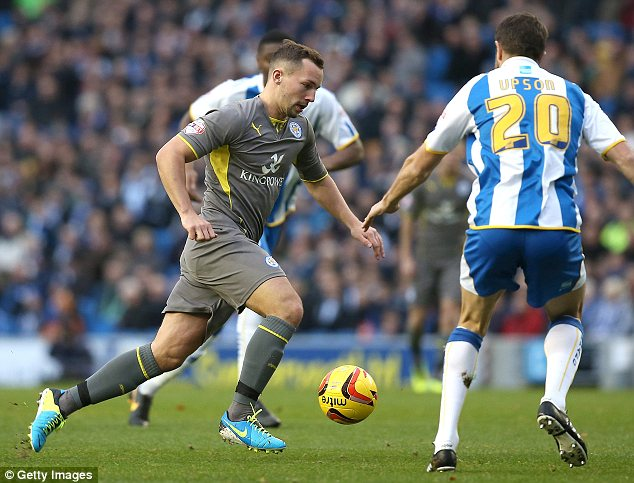 On the attack: Danny Drinkwater of Leicester