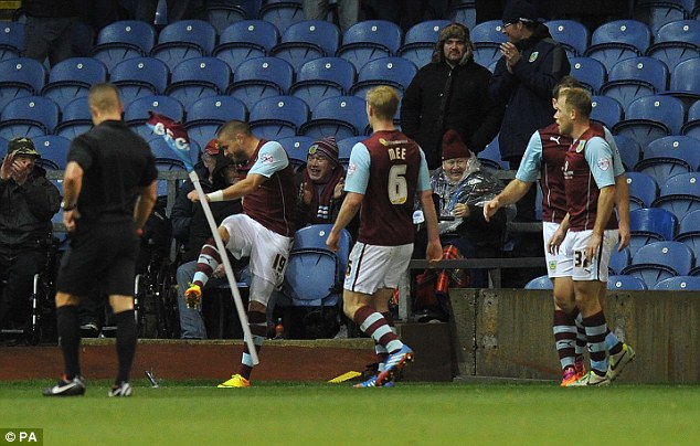 Match winner: Michael Kightly netted with 25 minutes remaining for Burnley