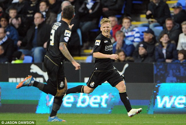 Slip up: Matt Ritchie also scored as Reading lost at home for the first time in nine matches