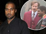 'We didn't want Kanye to get upset': Will Ferrell reveals how he kept rapper from blowing his top on set of Anchorman 2