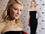 Daring to bare in Dubai! Pale-skinned Cate Blanchett reveals her perfect shoulders at the Dubai International Film Festival