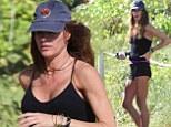 Not an inch to pinch! Kelly Bensimon, 45, flaunts ultra-slim figure in tiny shorts for Miami beach jog