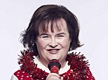 Susan Boyle promoting the Save the Children Christmas Jumper Day campaign
