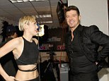 Reunited: Miley Cyrus and Robin Thicke were reunited at the KIIS FM Jingle Ball at the Staples Center in Downtown Los Angeles on Friday night