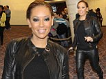 Mel B goes hell for leather