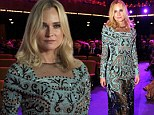 Diane Kruger flashes her black underwear through ornate sheer gown as she steps out at European Film Awards