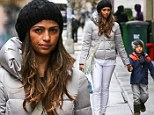 Camila Alves and son Levi in NYC