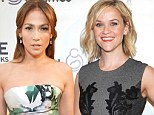 Ladies who lunch: Jennifer Lopez and Reese Witherspoon are flirty in floral frocks at charity gala