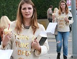 Making a statement? Mischa Barton donned a rebellious sweater for an outing in Silverlake, California on Saturday