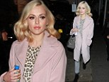 Looking chic: Fearne Cotton arrives to host Top Of The Pops in a retro-inspired outfit