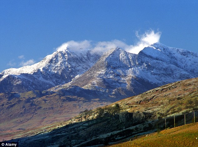 Dream trip: Mr Coyle fell from the top of Mount Snowdon, in North Wales, but was not located for another six months