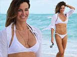 Fabulous, fit and proud of it! Kelly Bensimon, 45, shows off her rocking ripped body in a tiny white bikini on Miami Beach