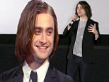 Who's a pretty boy then! Daniel Radcliffe shows of his long 'dead person' hair extensions