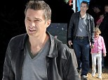 Olivier Martinez and Nahla go shopping for a Christmas tree