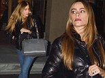 Sofia Vergara shows off her slender frame in skintight jeans as she gets her holiday shopping done early