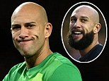 Tim Howard - with and without a beard
