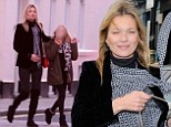 A chip off the old block: Kate Moss takes mini-me daughter Lila out Christmas shopping with friends