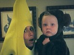 Minnie Driver dressed as a banana and her adorable son Henry was a monkey