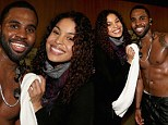 Backstage perks! Jordin Sparks towels down her sweaty and shirtless boyfriend Jason DeRulo after KIIS FM's Jingle Ball