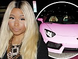 Party in pink! Nicki Minaj arrives to her 31st birthday in pink Lamborghini and short-shorts