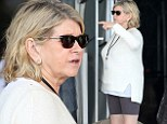 Spandex living! Martha Stewart shows off her white pins in skin-tight shorts while out in Miami