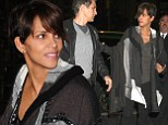 That was quick! Halle Berry debuts her incredibly slender post-pregnancy figure in tight trousers as she steps out for first time since giving birth to son just weeks ago