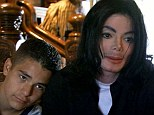 Michael Jackson pictured with 12 year-old Gavin Arvizo in Neverland, California