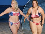 'I've lost 50 pounds!' Notorious yo-yo dieter Ajay Rochester has successfully slimmed down and shows off the results by getting back into her American flag bikini