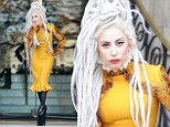 She certainly wasn't Born This Way: Lady Gaga flaunts a new look with white dreadlocks and a powered pale face
