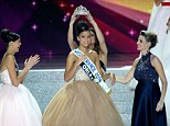 Miss France: Flora Coquerel, a 19-year-old whose mother is from the West African state of Benin, was crowned on live television on Saturday night