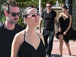True flair for maternity wear! David Arquette's pregnant girlfriend Christina McLarty hides her baby bump with a chic flowing black dress during romantic stroll