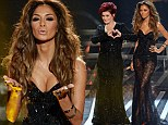 That's awkward! Nicole Scherzinger, 35, and fellow X Factor judge Sharon Osbourne, 61, don similar glittering gowns at semi-finals results show